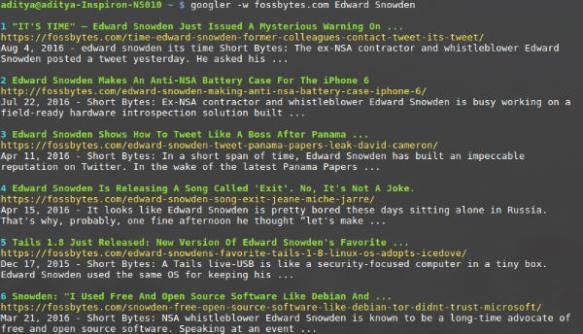 Googler on FossBytes, Snowden. Courtesy from FossBytes.