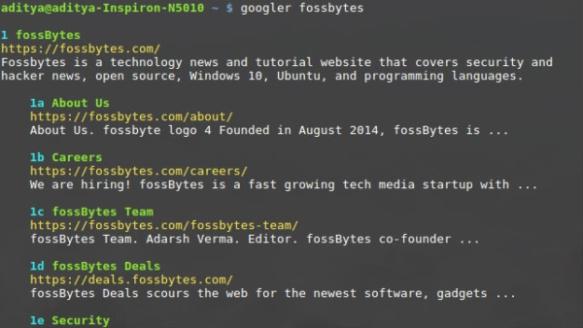 Googler FossBytes. Image from FossBytes